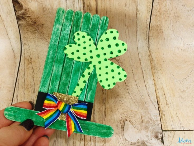 St. Patrick's Day Craft Stick Leprechaun Craft