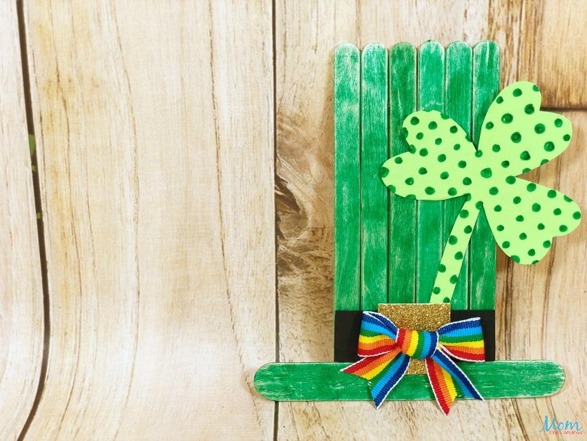 St. Patrick's Day Craft Stick Leprechaun Craft