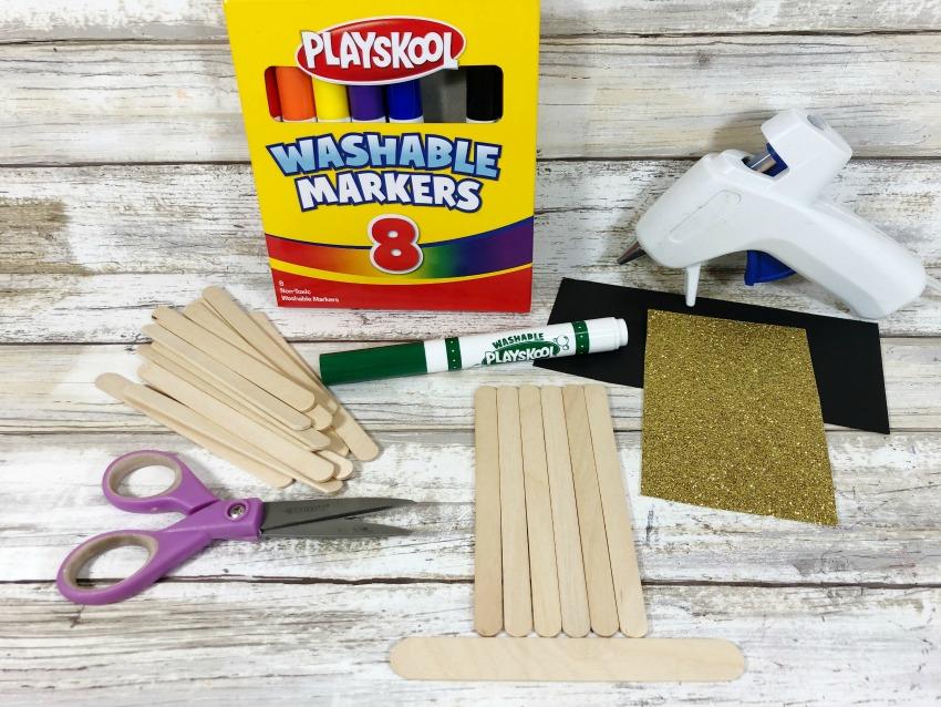 St. Patrick's Day Craft Stick Leprechaun Craft - supplies needed