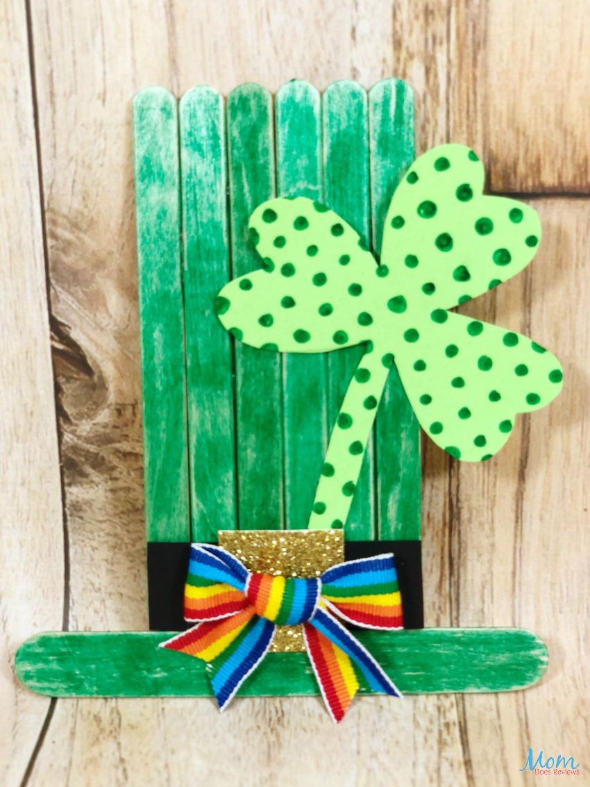 St. Patrick's Day Craft Stick Leprechaun #Craft #stpatricksday #leprechaun