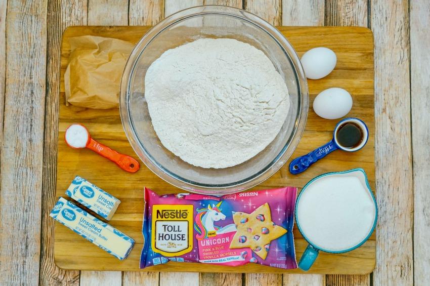 Magical Unicorn Cookie ingredients