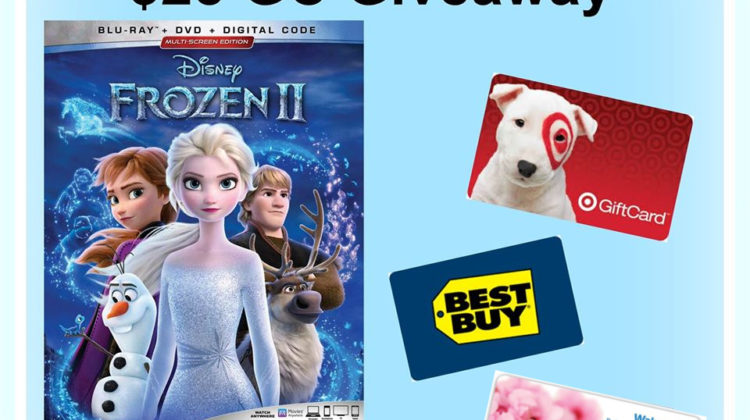 #Win $25 GC/PayPal Cash and Frozen 2 Blu Ray! US, ends 3/12