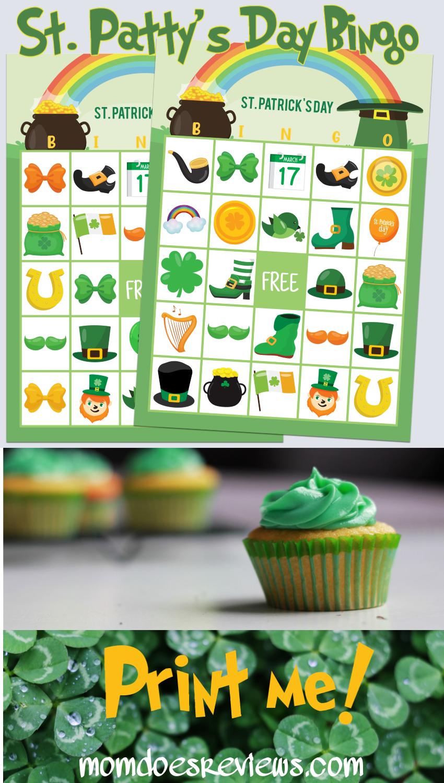 St. Patrick's Day Bingo- Free #Printables #stpattysday #funstuff