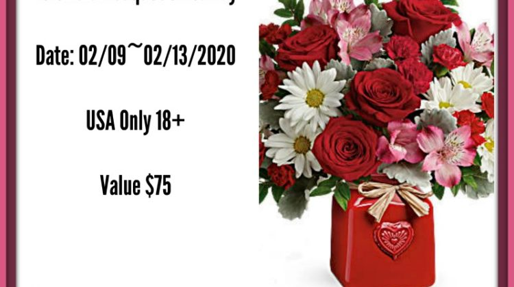 #Win $75 GC for a Teleflora Bouquet, US, ends 2/12