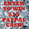 #Win $15 PayPal Cash! Open WW, ends 2/18 #GiveawayLOVE