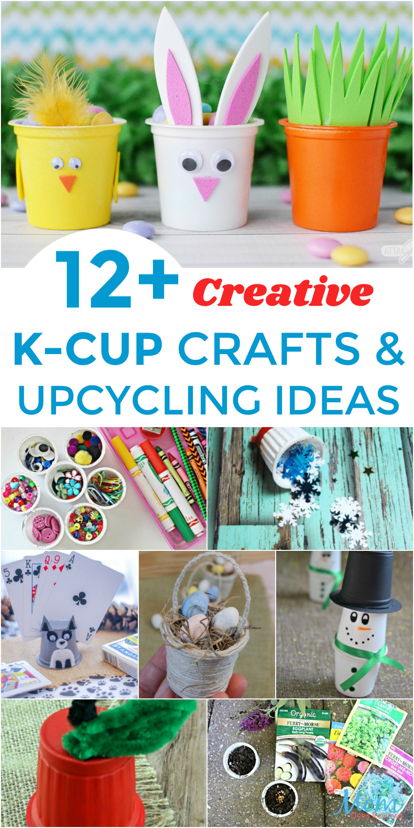 12+ Creative K-Cup Crafts and Upcycling Ideas #DIY #Upcycle #crafts