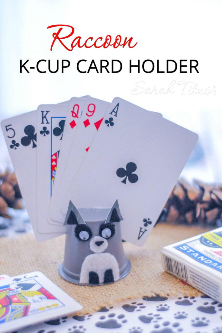 Raccoon K-cup Card Holder
