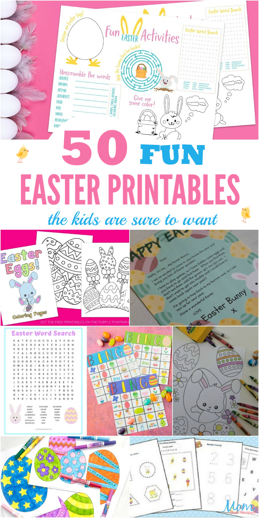 50 Fun Easter Printables the Kids are Sure to Want #Easter #printables #boredombuster