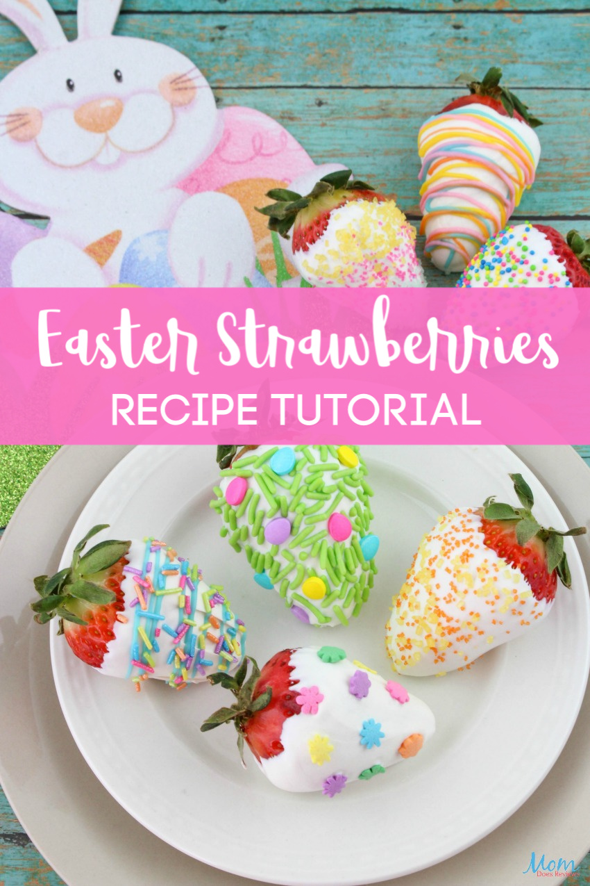 Adorable Easter Strawberries #Recipe  #Tutorial #Easter #Funfood