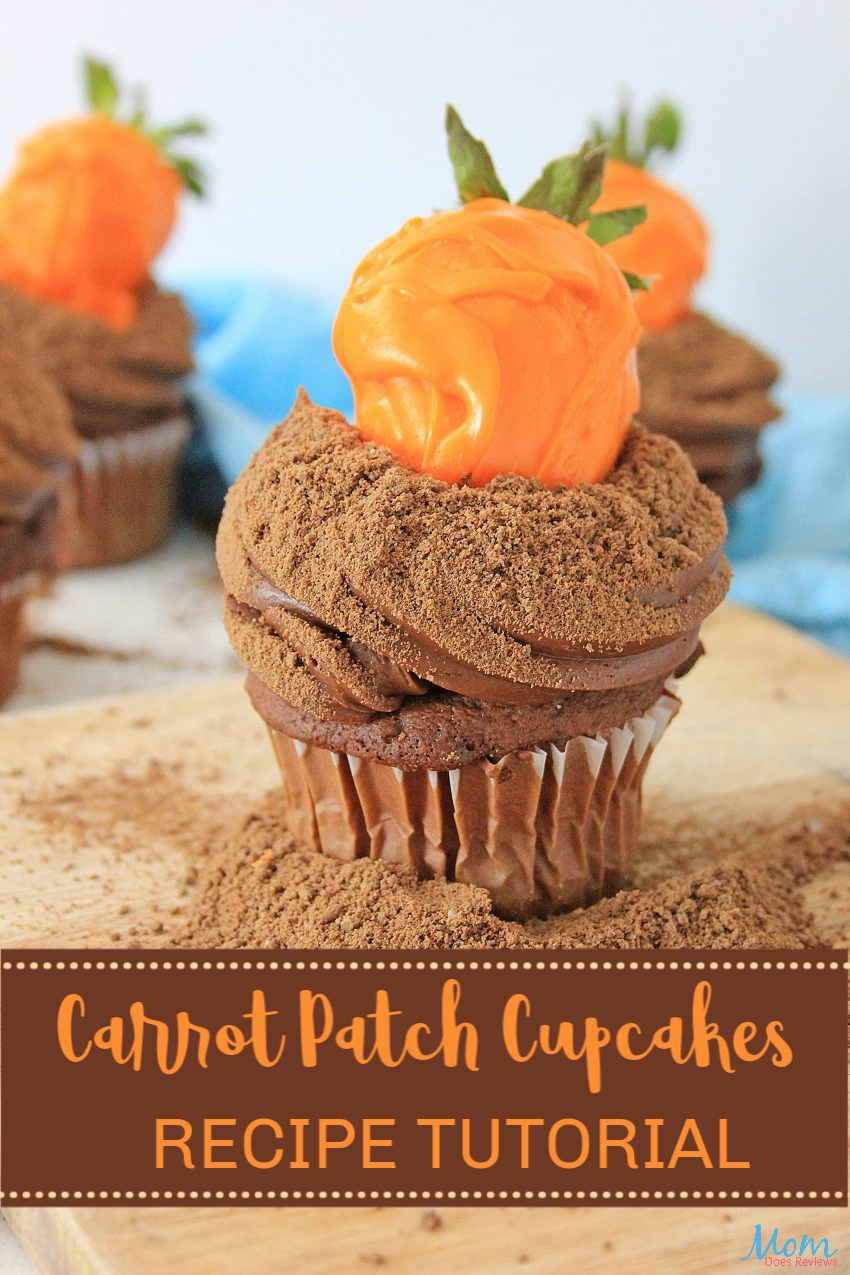 Carrot Patch Cupcakes #Recipe #Tutorial #Cupcakes #Easter