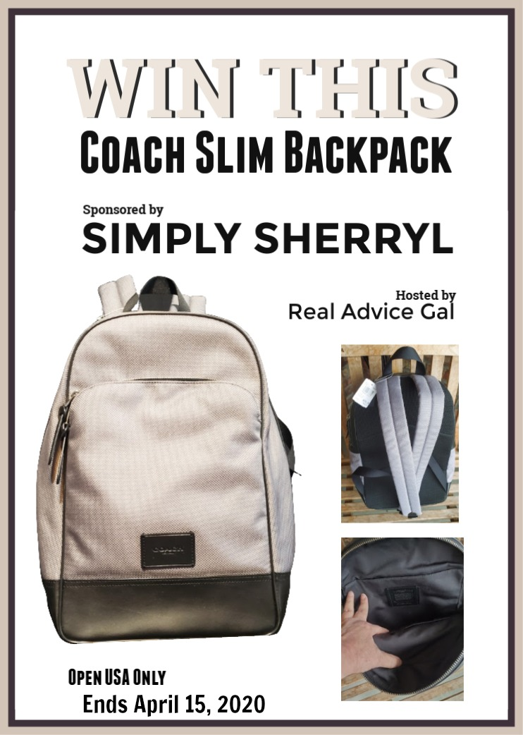 Win this Slim Backpack by Coach