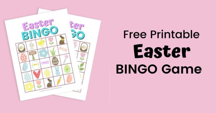 Easter Bingo - Free Printable Easter Game with 10 Different Cards!