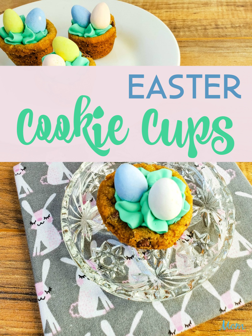 Easter Cookie Cups Recipe #sweets #Easter #cookies