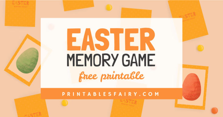 Easter Memory Matching Game For Kids