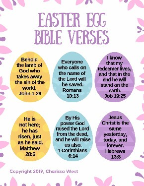 Easter Bible Verses for Kids
