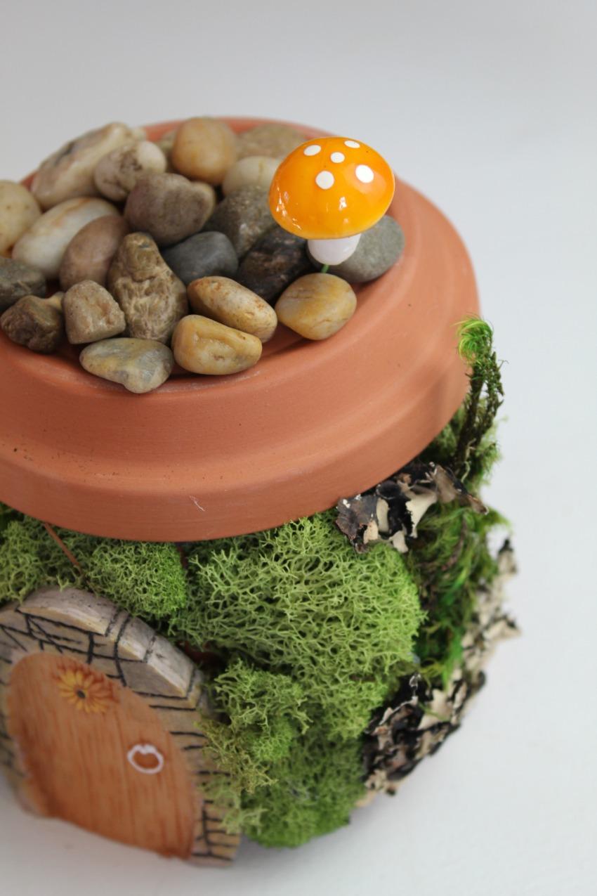 Fairy Garden Home process #DIY #craft #fairy #garden