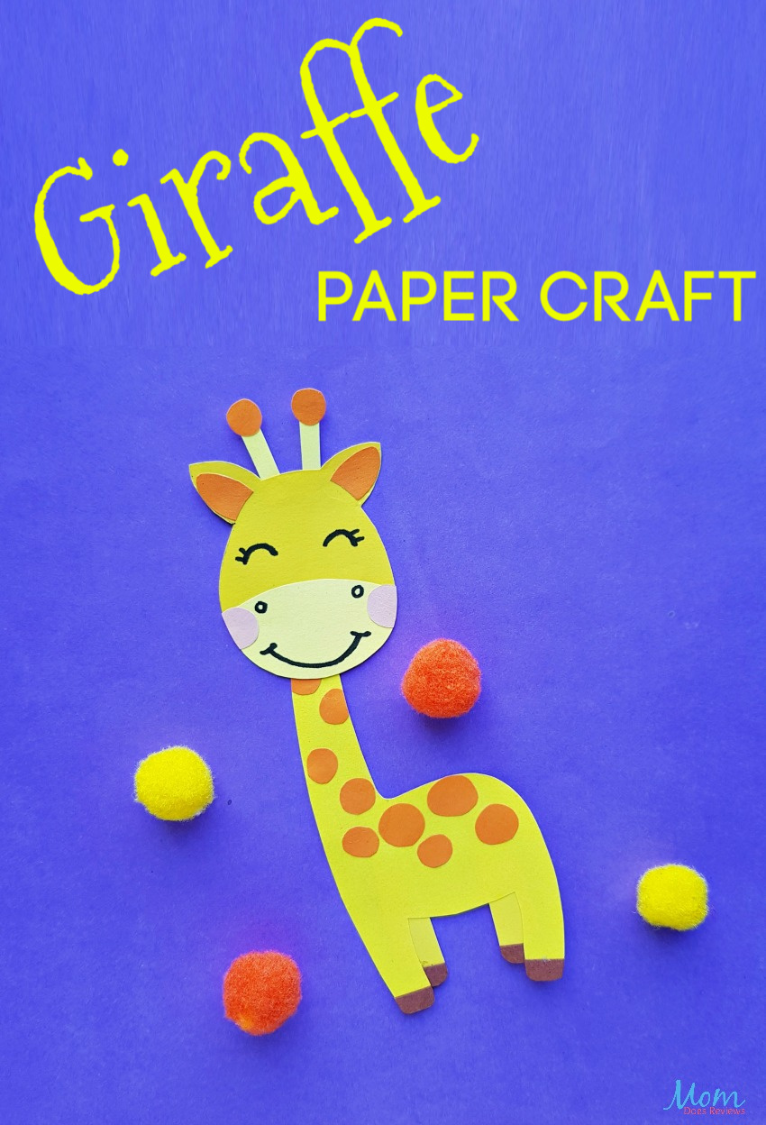 Super Cute Giraffe Paper Craft for Kids #crafts #papercrafts #funstuff