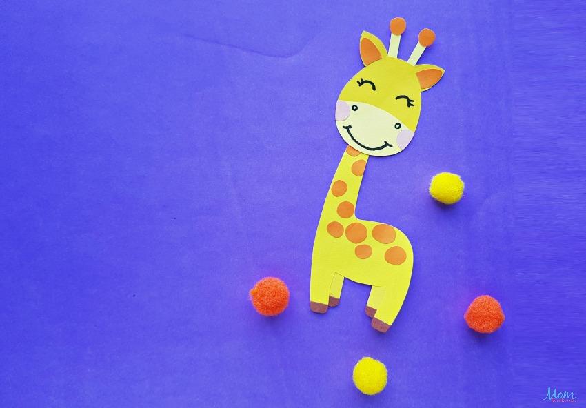 Super Cute Giraffe Paper Craft for Kids