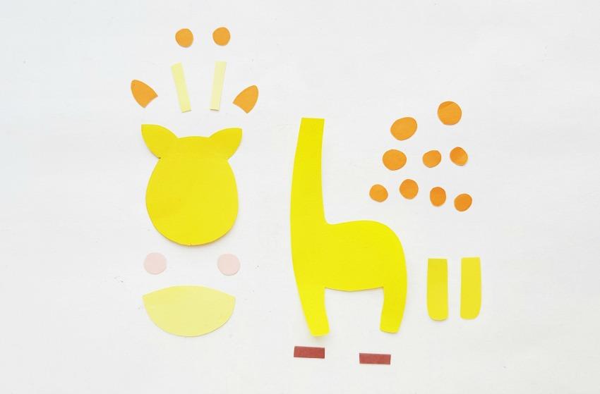 Giraffe Paper Craft process