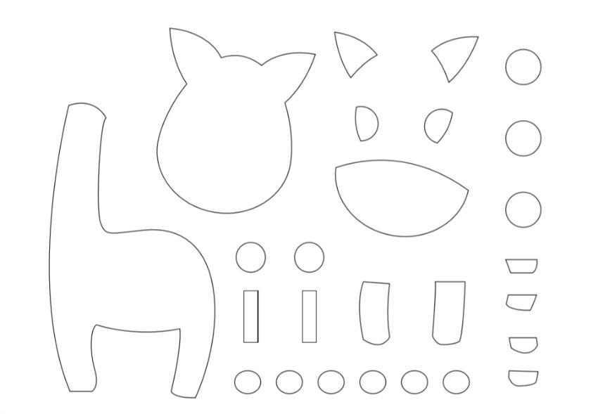 Giraffe Paper Craft template