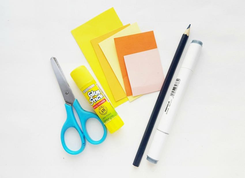 Giraffe Paper Craft supplies needed