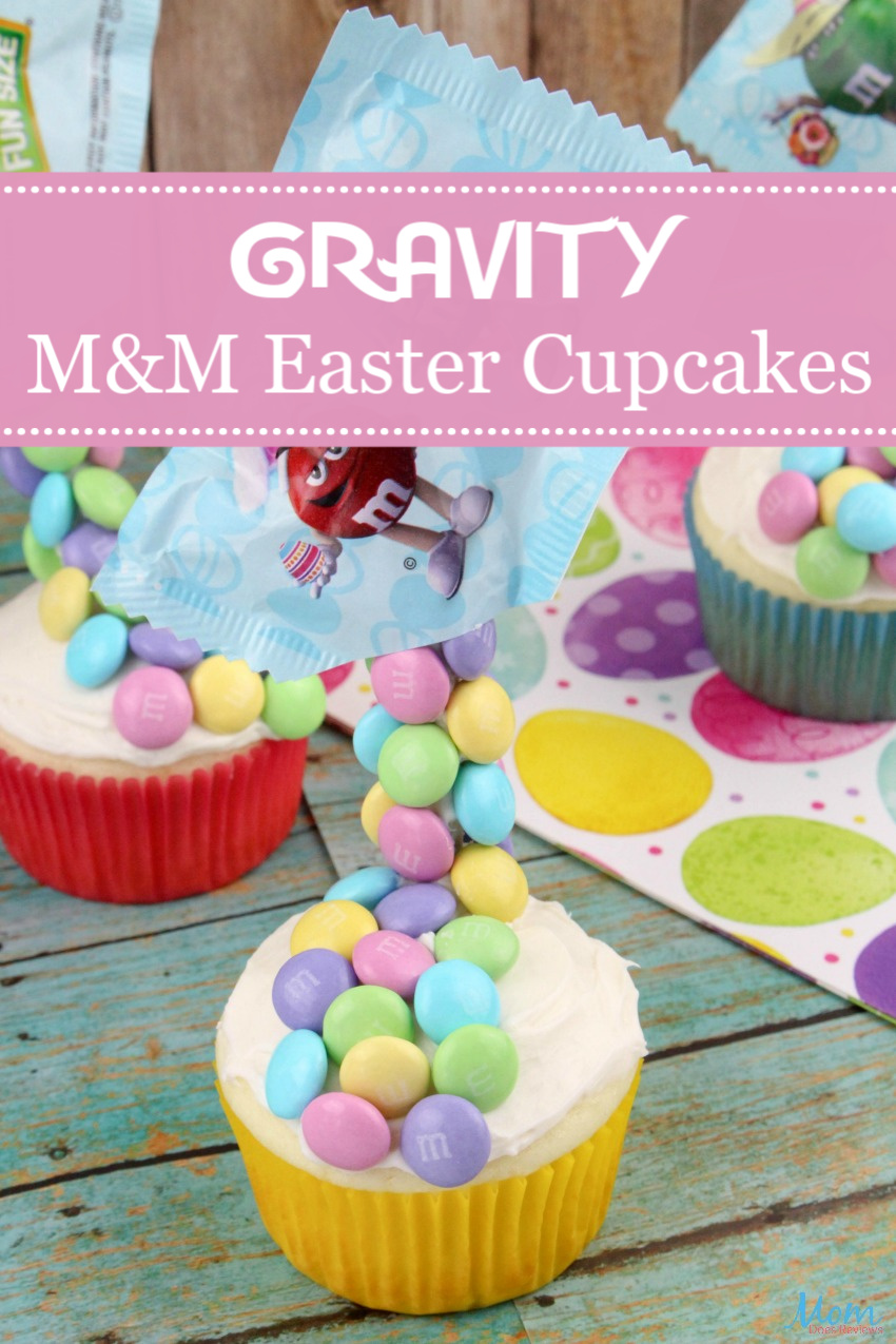 Gravity M&M Easter Cupcakes #Recipe & #Tutorial #Easter #funfood