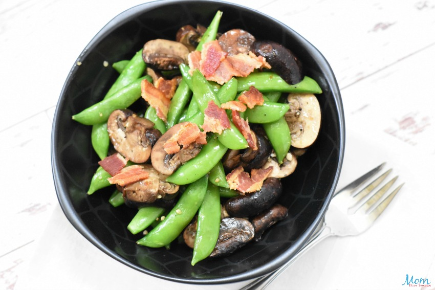 Roasted Snap Peas & Mushrooms Recipe