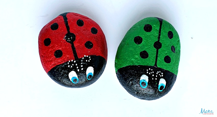 Stone Ladybug Coloring Craft for Kids