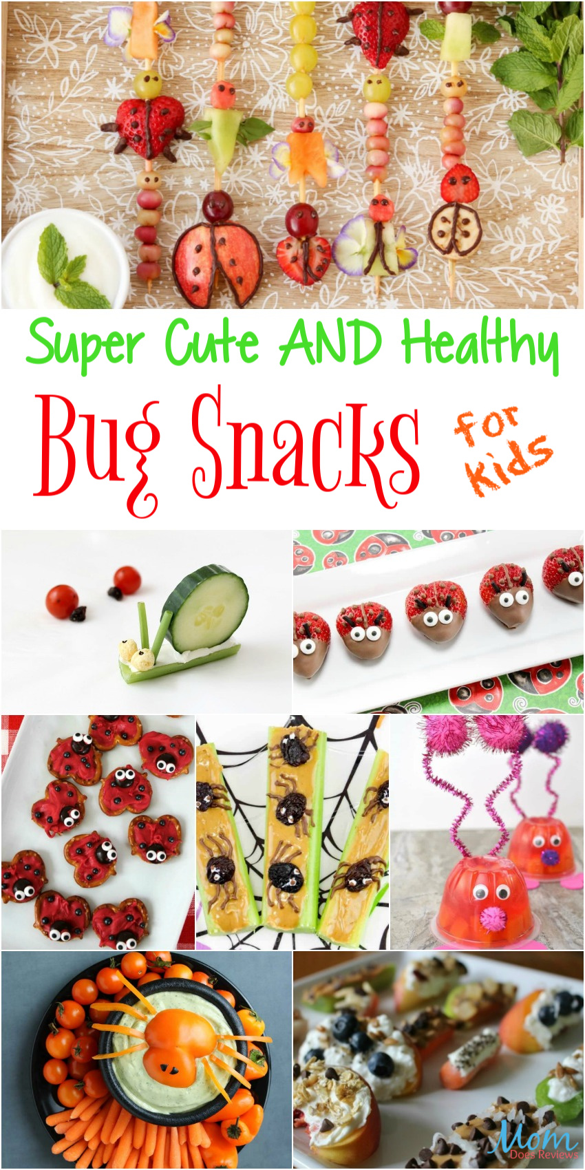 Super Cute AND Healthy Bug Snacks Your Kids will Love #funfood #snacks #recipes
