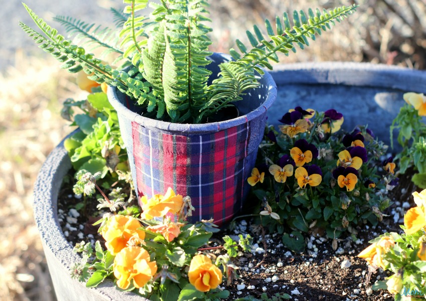 Upcycled Men_s Shirts Decoupage Planters Craft
