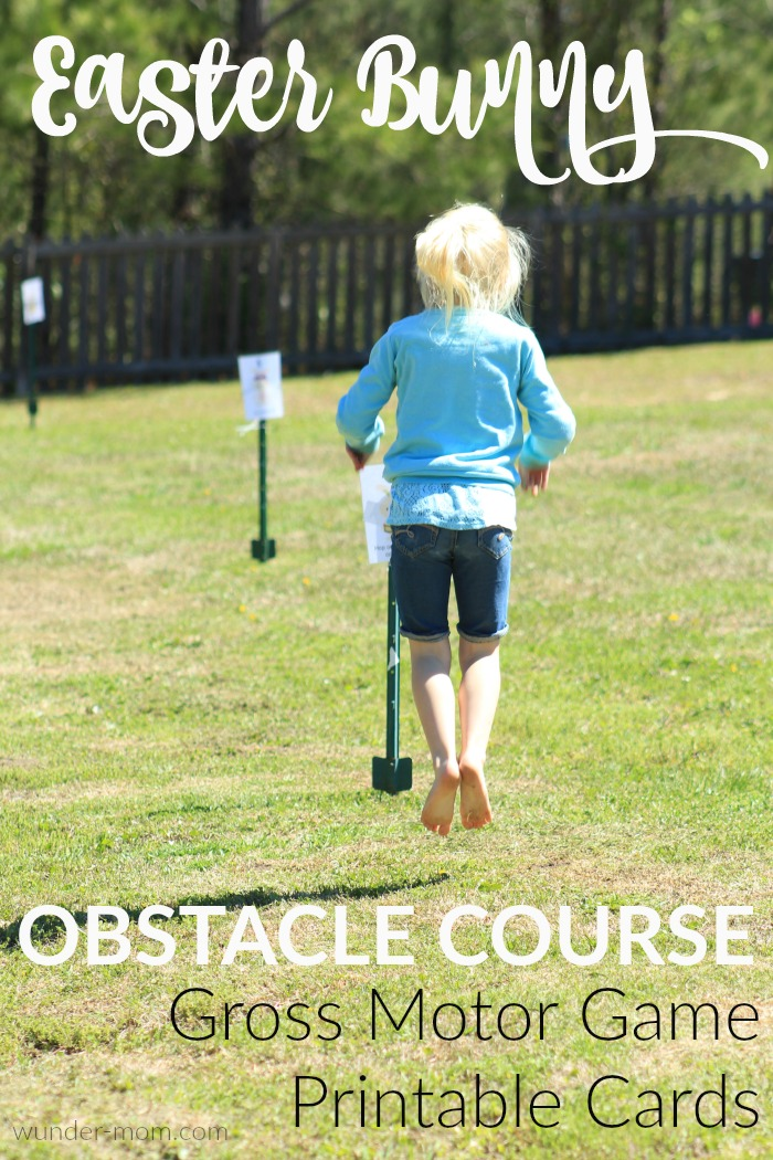 Easter Bunny Obstacle Course with Printable Activity Cards