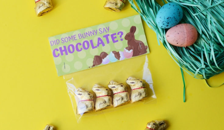 Did Some Bunny Say Chocolate? | Free Printable Easter Gift Idea