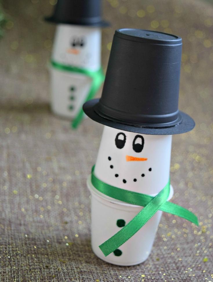 DIY K-Cup Snowman