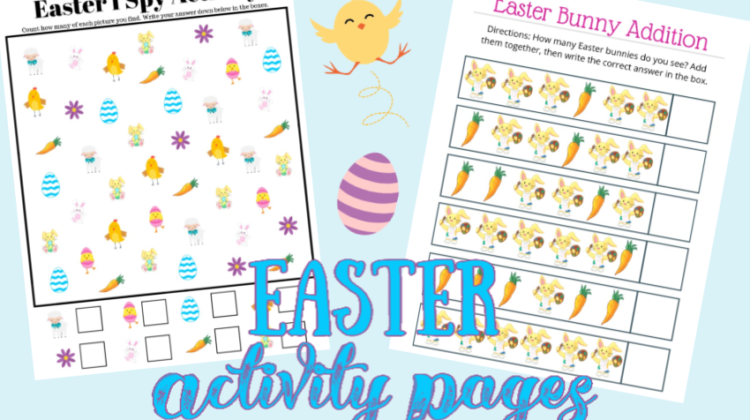 FREE Printables! Easter Activity Pages for your Kids!