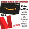Stay Safe at Home with this Netflix/Amazon Giveaway!