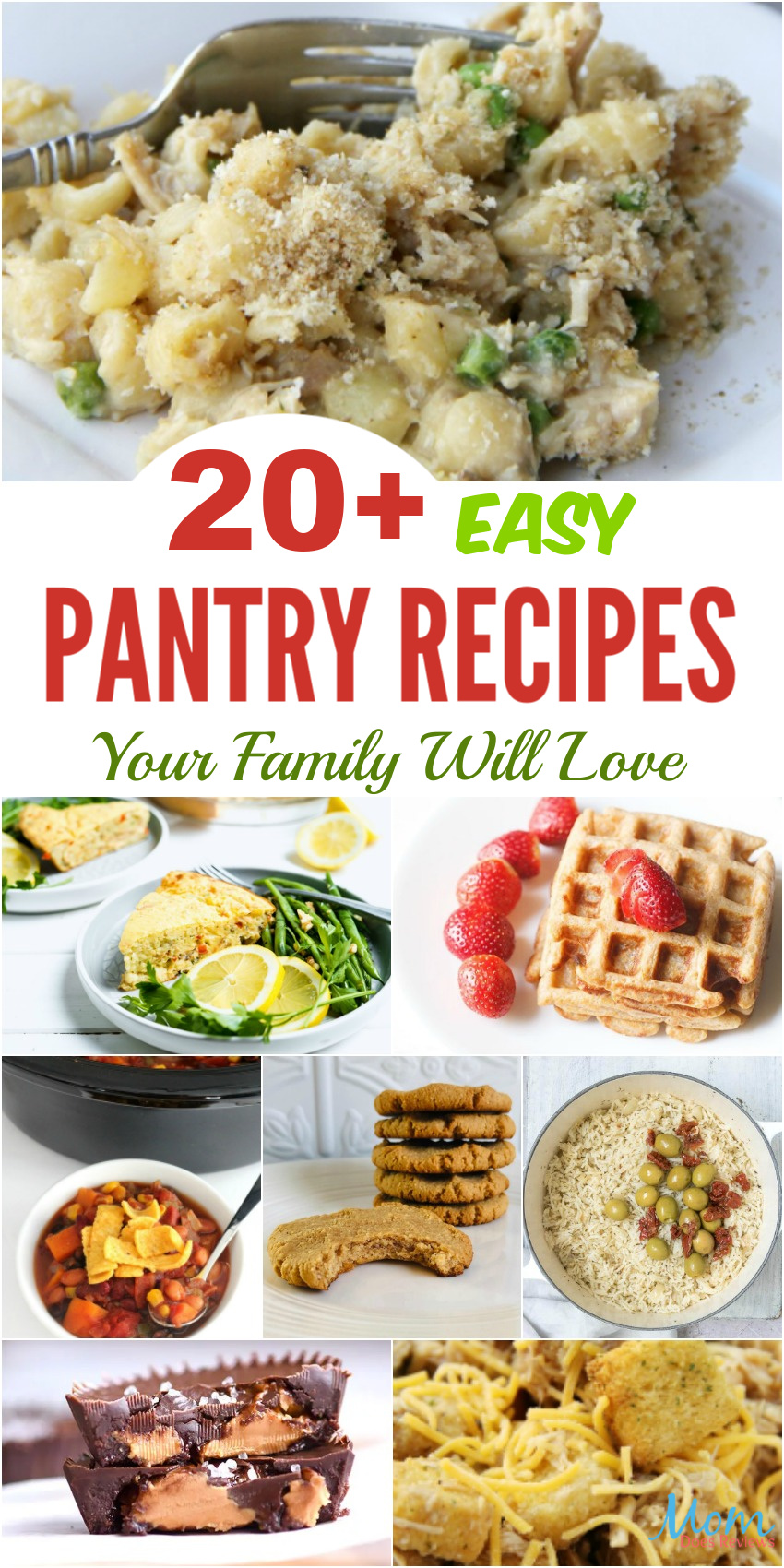 20+ Easy Pantry Recipes Your Family Will Love #recipes #stayhome #pantryfood