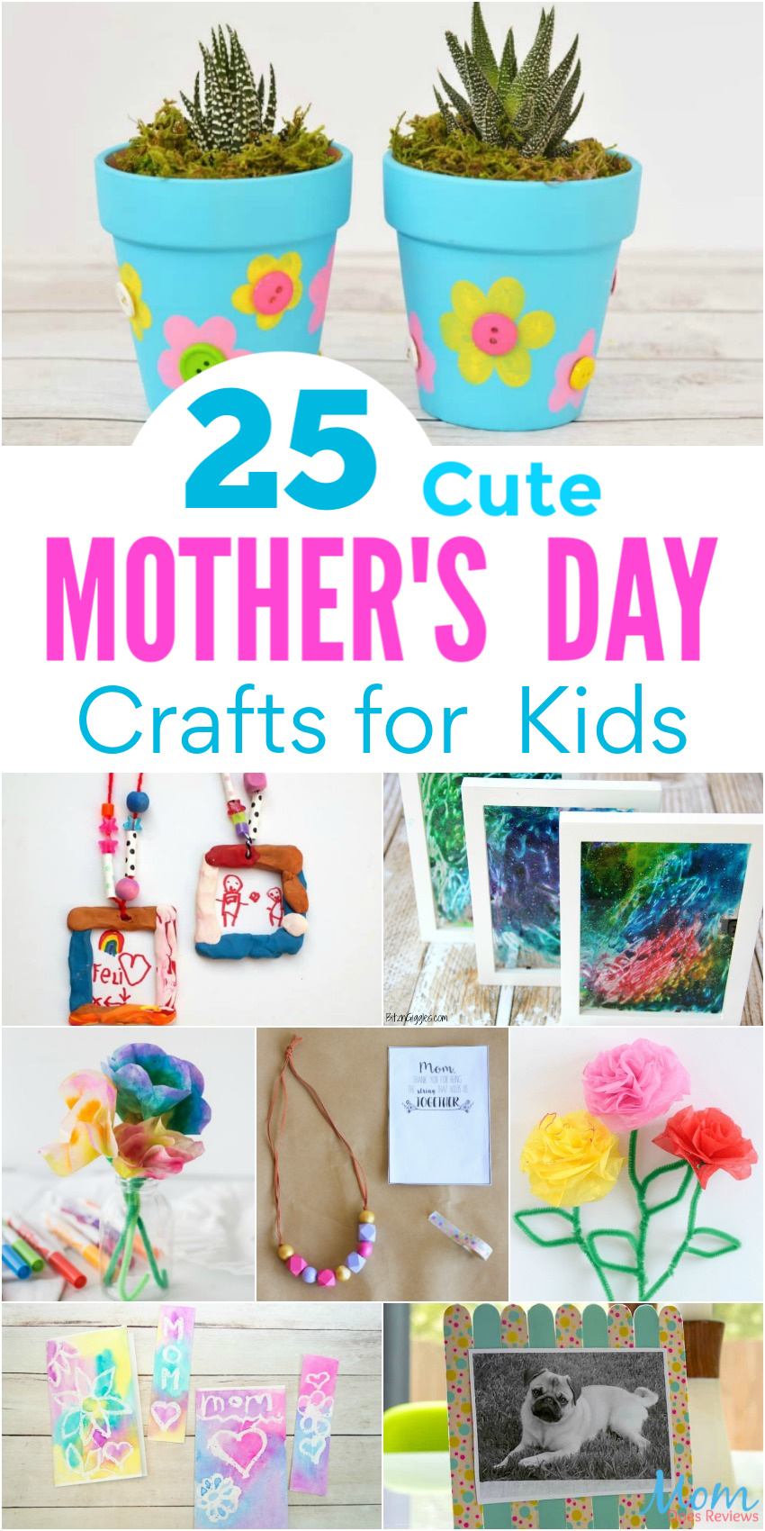 25 Cute Mother's Day Crafts for Kids to Make for Mom #crafts #mothersday #DIY