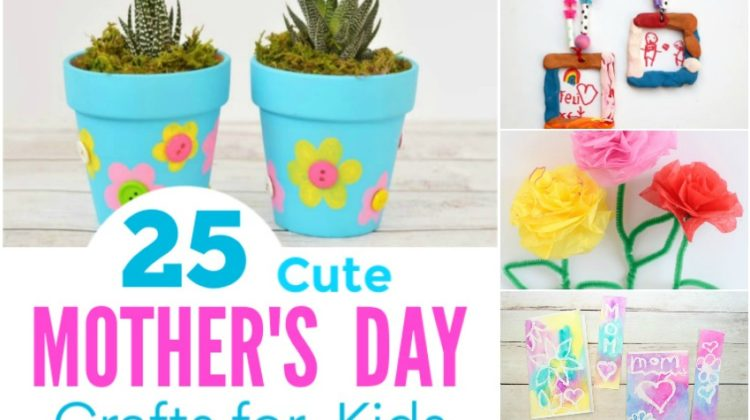 25 Cute Mother's Day Crafts for Kids to Make for Mom