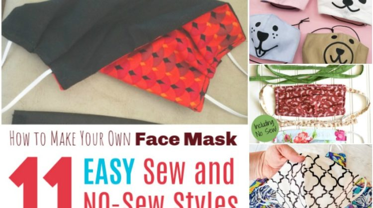 How to Make Your Own Face Mask: 11 Easy Sew and NO-Sew Styles
