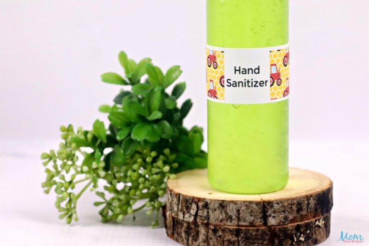 Moisturizing Hand Sanitizer Gel Recipe