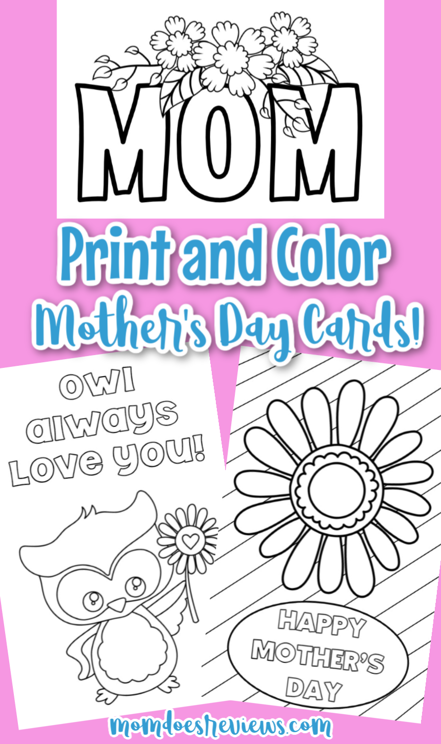 Color Your Own Mother's Day Cards!