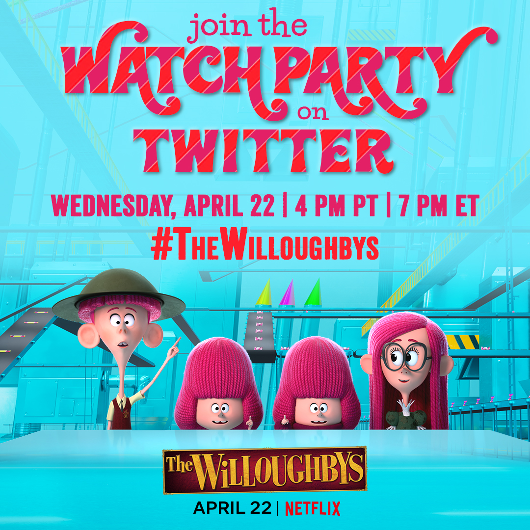 Don't miss The Willoughbys Twitter Watch Party 4/22 7p est- #Win Prizes! Free #Printables!