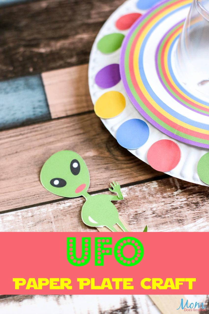 Fun UFO Paper Plate Craft for Kids #craft #easycraft #funstuff