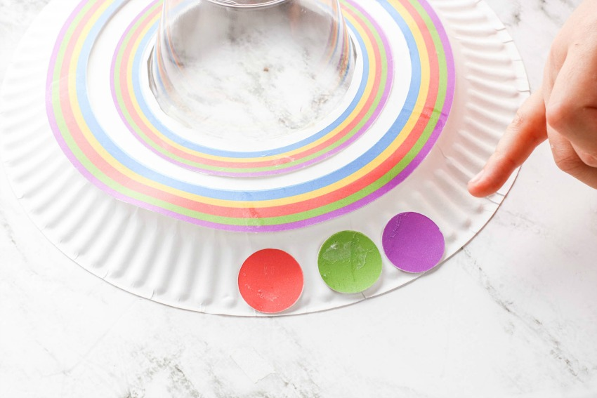 UFO Paper Plate Craft process