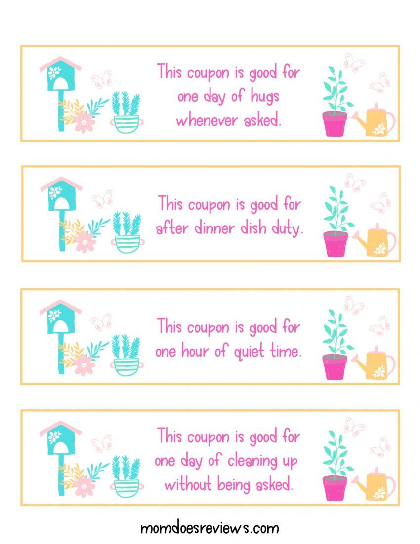 Pretty & Printable Mother's Day Coupon Book