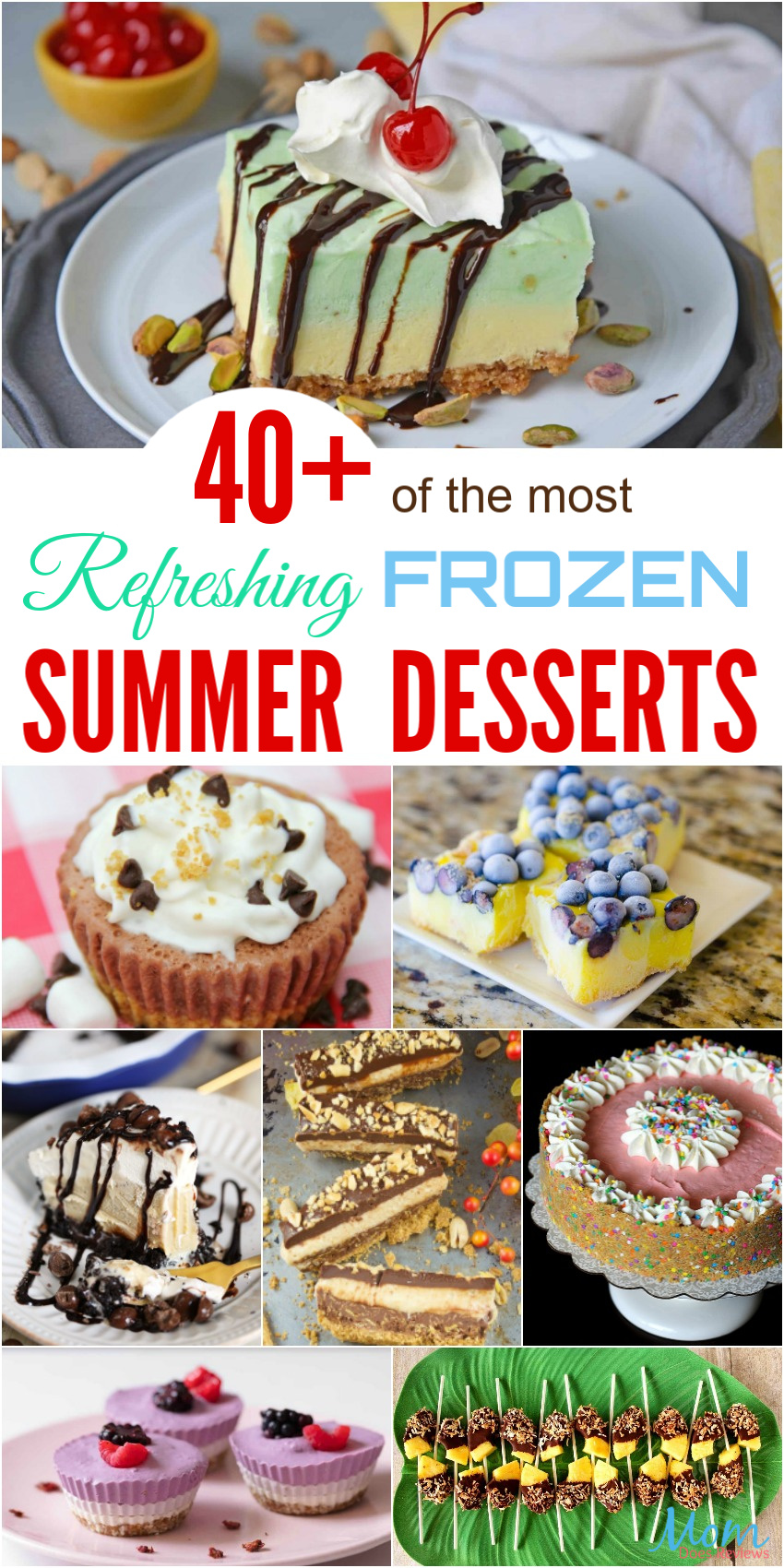 40+ of the most Refreshing Frozen Summer Desserts to Enjoy this Summer #recipes #desserts #funfood