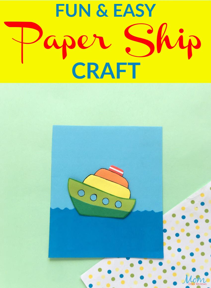 Fun Paper Ship Craft for Kids #crafts #funstuff #papercrafts