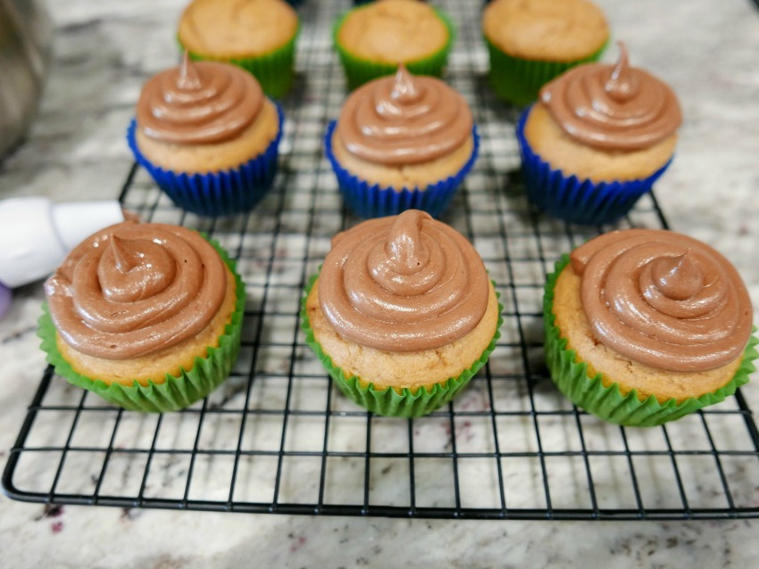 Nutella Reese's Peanut Butter Cupcakes process