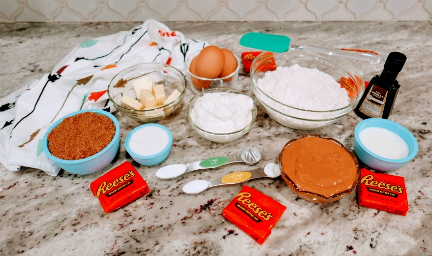 Nutella Reese's Peanut Butter Cupcakes ingredients