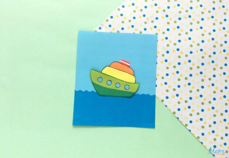 Fun Paper Ship Craft for Kids
